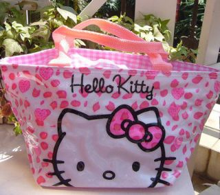 New Pink Leopard Kitty Lunch Bag Handbag Tote Very Lovely Nice Gift