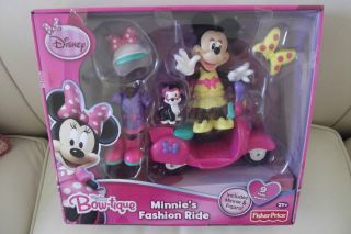 Price Disney Minnie Mouse Bow tique Fashion Scooter Ride Doll & Figaro