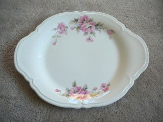 KNOWLES SEMI VITREOUS CHINA DINNERWARE 1657 E1   OVAL 13 PLATTER PINK