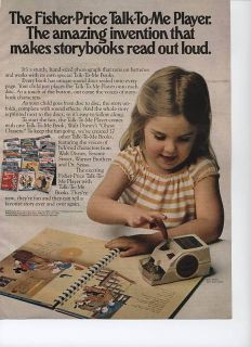 Fisher Price Talk To Me Player 2 1979 Magazine Ad