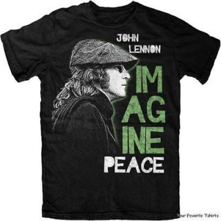 Licensed John Lennon Imagine Peace Adult Shirt S XXL