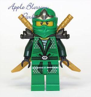 NEW Lego Ninjago GREEN NINJA MINIFIG   Lloyd ZX Minifigure w/2 Gold