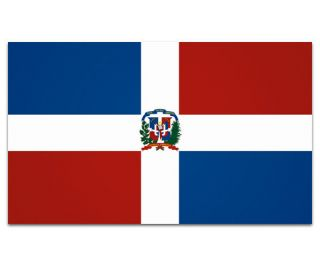 Dominican Republic Flag Wall Art Car Vinyl Window Bumper Sticker Decal