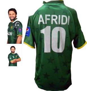 Official Pakistan Shahid Afridi 10 TwentyTwenty T20 World Cup 2012