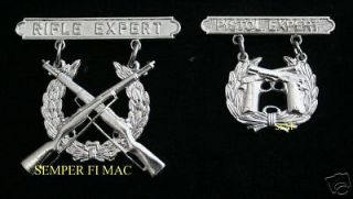 US MARINE CORPS RIFLE & PISTOL Marksmanship Qualification Badge EXPERT