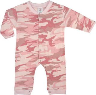 Baby Girl PINK CAMO BODYSUIT One Piece Infant Clothes Romper 67059 9