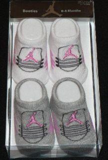 Nike Air Jordan Baby Booties 0   6 months Retro 5 pink
