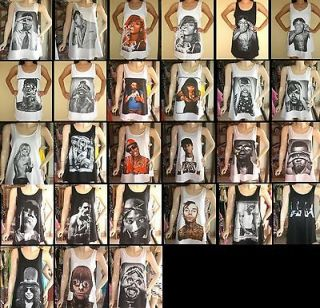 Ladies Womans Pop Rock T shirt Singlet Vest Mini Dress Free Size S