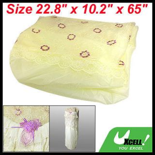 Protective Indoor Air Conditioner Conditioning Lace Cover Beige