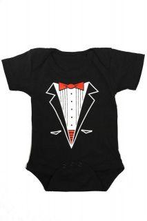 Tuxedo Onesie Romper Baby Infant Newborn Toddler Punk Formal Attire