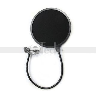 New Studio Microphone Mic Wind Screen Pop Filter Mask Shied with