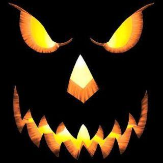 Pumpkin Head Face Scary Halloween Costume Small Sm Black T Shirt