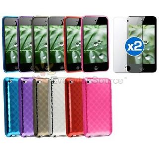 Hard Soft Skin Case Cover For iPod Touch 4 4th GEN Screen PROTECTOR