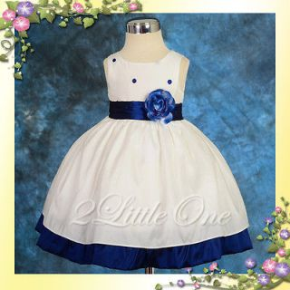 Wedding Flower Girls Dress Pageant Party Baby Toddler Size 3T 4T #121