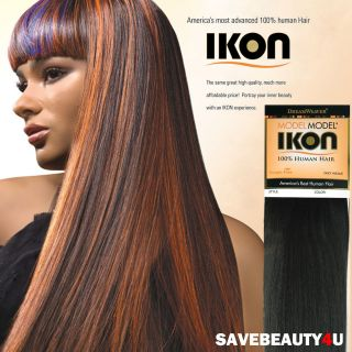 10, 12, 14, 18 Model Model Dream Weaver IKON 100% Human Hair
