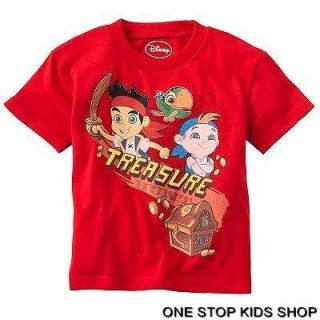 JAKE AND THE NEVERLAND PIRATES Toddler Boys 2T 3T 4T Tee SHIRT Top