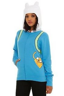 Adventure Time I Am Finn Hoodie Jacket ..Jr. X Large XL 38
