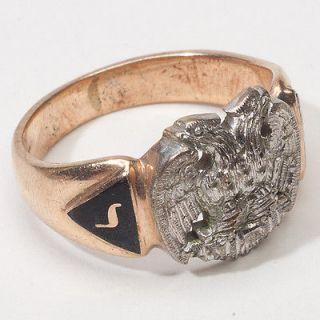 Masonic 32nd Desgree Mens Gold Ring Band Fine Fraternity Jewelry