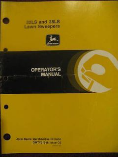 John Deere 32LS 38LS Lawn Sweeper Operator Manual