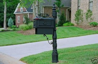 Better Box Mailboxes Classic Decorative Cast Aluminum Mail Box w/Paper