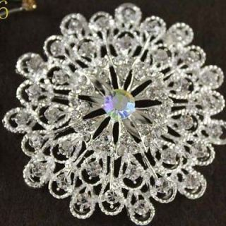 2012 Highest Quality Austrian Crystal elegant Lady Flower Brooch