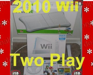 NEW NINTENDO WII GAME CONSOLE WII FIT MARIO KART BUNDLE