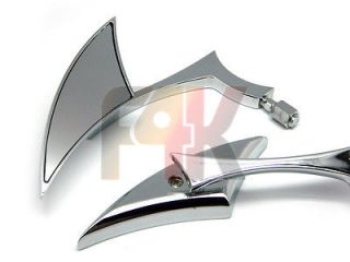 CHROME SIDE MIRRORS FOR KAWASAKI VULCAN EN VN 750 800 900 1500 1600