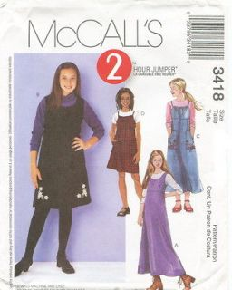 mccalls 3418 girls jumpers sewing pattern more options pattern sizes