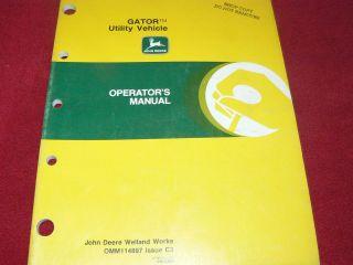 John Deere Grator Utility Vehicle Operators Manual