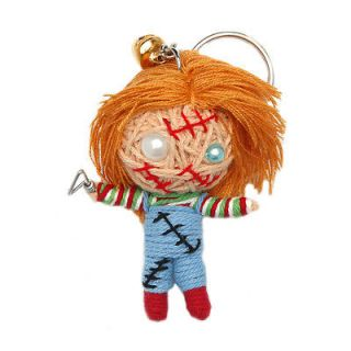 Chucky Childs Play Doll Lucky Voodoo String Doll Keychain Ornament