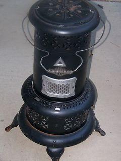 Black Round Vintage Kerosene Heater Stove