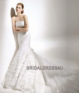 Stunning Organza Tiered Wedding Dress la mdl# sposa