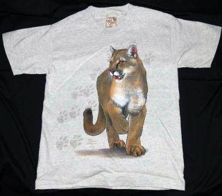 Kids T Shirt Cat Trax Puma Panther Catamount Mountain Lion Cotton