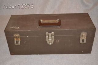 Vintage KENNEDY Heavy Duty Tool Box Chest w/Fold Out Tray, CS 19 7235