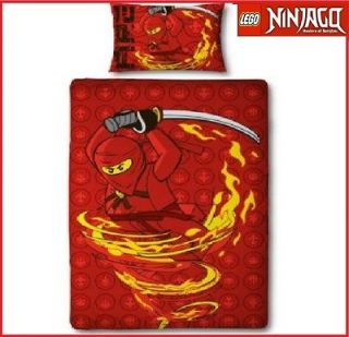 LEGO NINJAGO FIRE TORNADO NINJA SINGLE PANEL DUVET SET QUILT COVER
