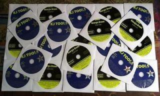 22 CD+G KARAOKE SET LOT BEST SONGS 375+ SONGS ELVIS,LONESTAR,BEATLES