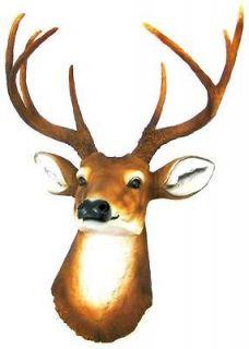 Point Buck Deer Head Bust Wall Hanging