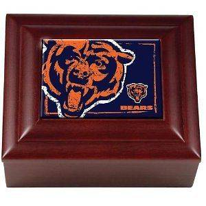 Very cool NFL Wood Keepsake Box (Chicago Bears) NEW Ships FREE
