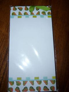 NEW PEAR Art Magnetic Fridge List Pad 80 sheets Christmas Stocking