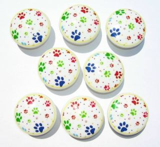 PUPPY DOG PAWS COLORFUL DRESSER DRAWER KNOBS THIS SET IS READY TO