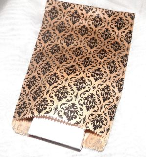 Damask Print Print Merchandise Bags, Paper Favor Bags, Party Gift bag
