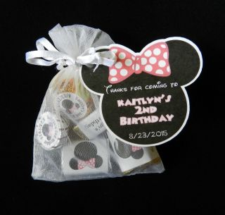 MINNIE MOUSE BIRTHDAY PARTY BABY SHOWER PARTY FAVOR GIFT TAG