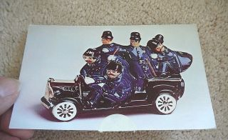 EZRA BROOKS   Vintage Postcard   KEYSTONE COPS Silent Movies   China