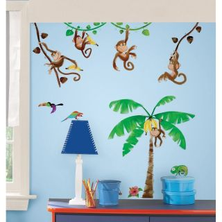 44 New MONKEY WALL DECALS Kids Stickers Monkies Decor