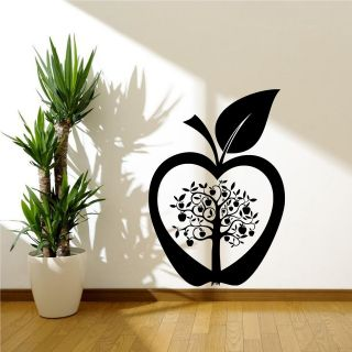Kitchen Apple Tree Flower Modern Wall Art Sticker Decal Transfer