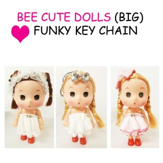 BEE CUTE DELUXE DOLL KEYCHAIN/ BAG CHARM ♥   LARGE   3 STYLES