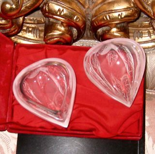 OMG Auth New in Box LALIQUE Crystal vase Heart figurine box