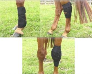 Pair Magnetic Therapy Horse/Pony Tendon,Knee,Ho​ck Boots