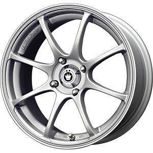 New 15X6.5 4x100 KONIG Feather Silver Wheels/Rims
