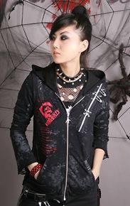 Visual Kei Punk Gothic Nana ROCK spider web srkull top shirt coat S L